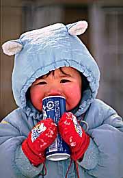 Yamagata kid with can